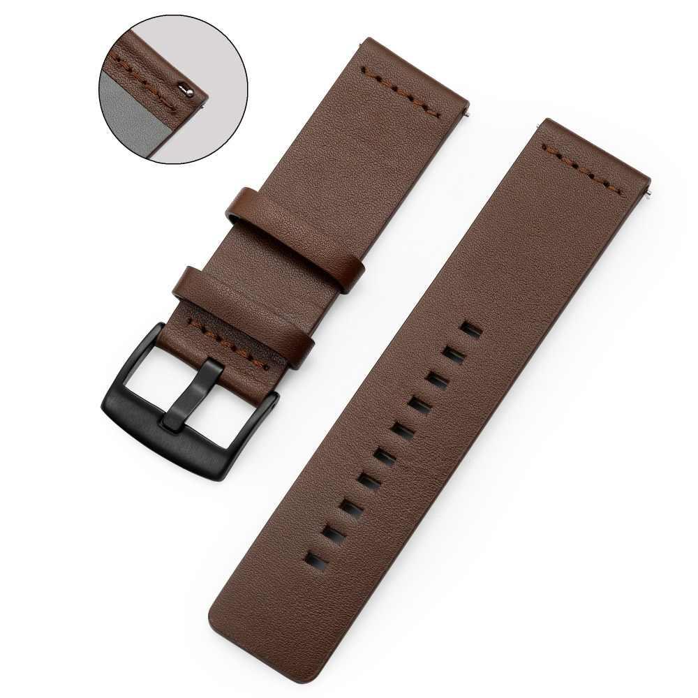 20mm 22mm אמיתי עור להקת רצועת עבור Samsung Galaxy Gear S3 שעון 42 46mm ספורט רצועת השעון מהיר שחרור 18 24mm