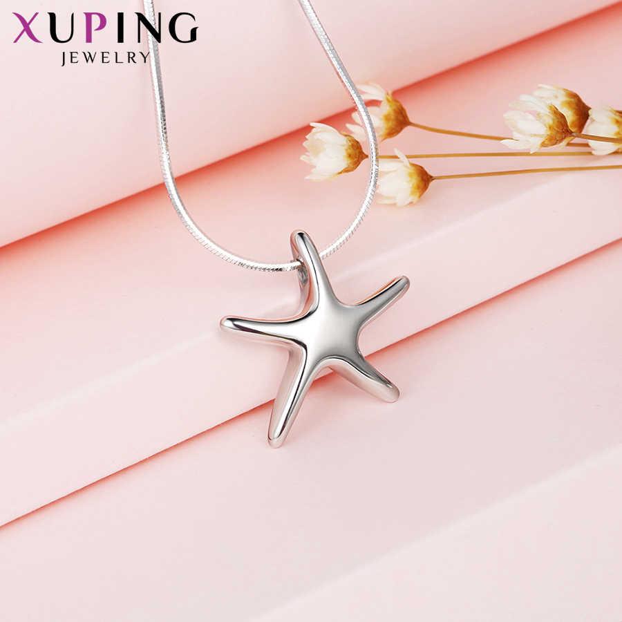 Xuping Jóias Pentagrama Forma Colar Pingente de Aço Inoxidável Jóias para Presentes Dos Namorados M42-30168 Neutro