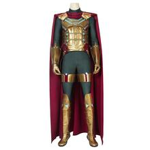 Spider-Man Far From Home Cosplay Mysterio Quentin Beck Costume Suit Superhero Adult Halloween Carnival Outfit Shoes Custom Made