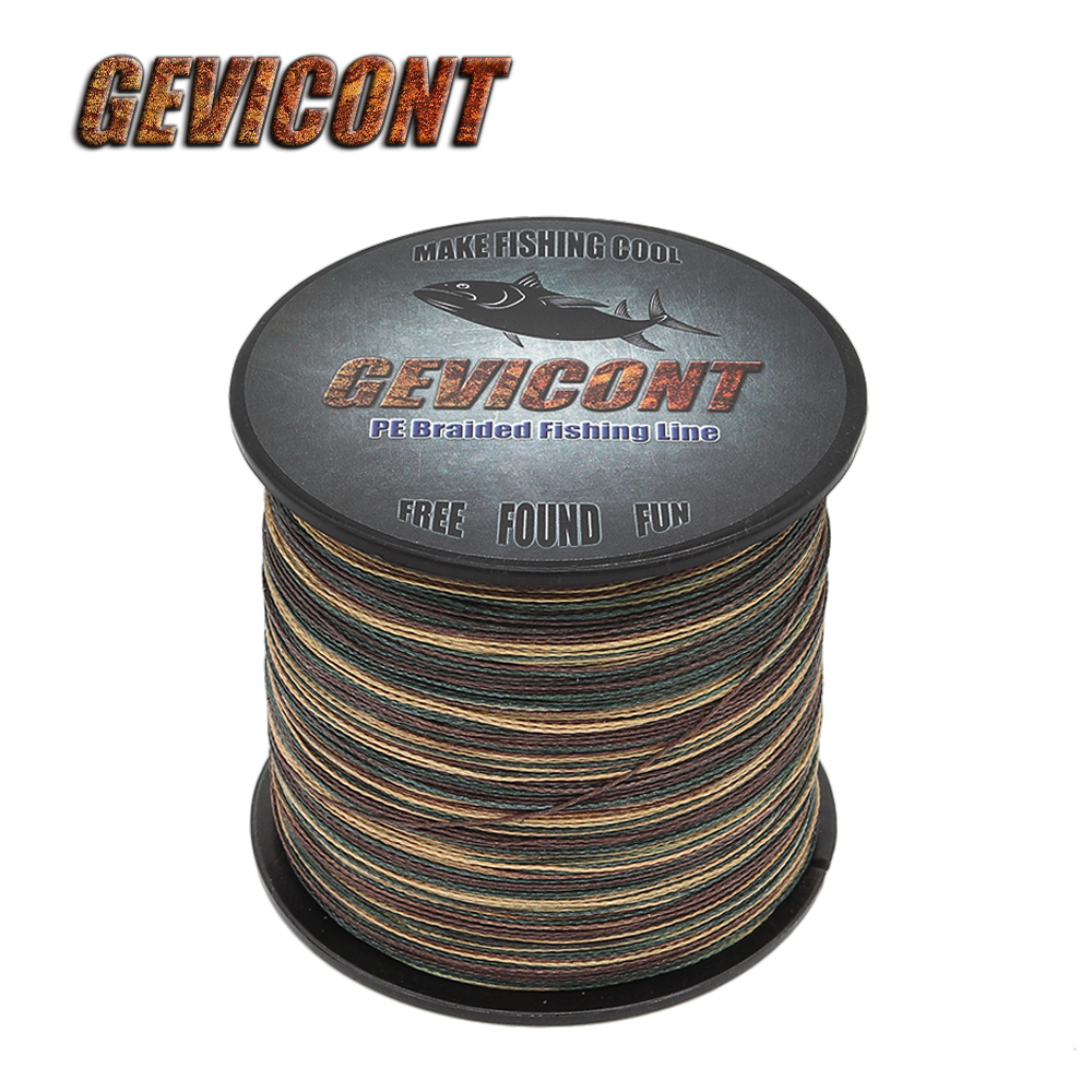 Gevicont Fishing-Line Wire Multifilament Carp Pe Braided Saltwater Camo 100M-2000M 4-Strands