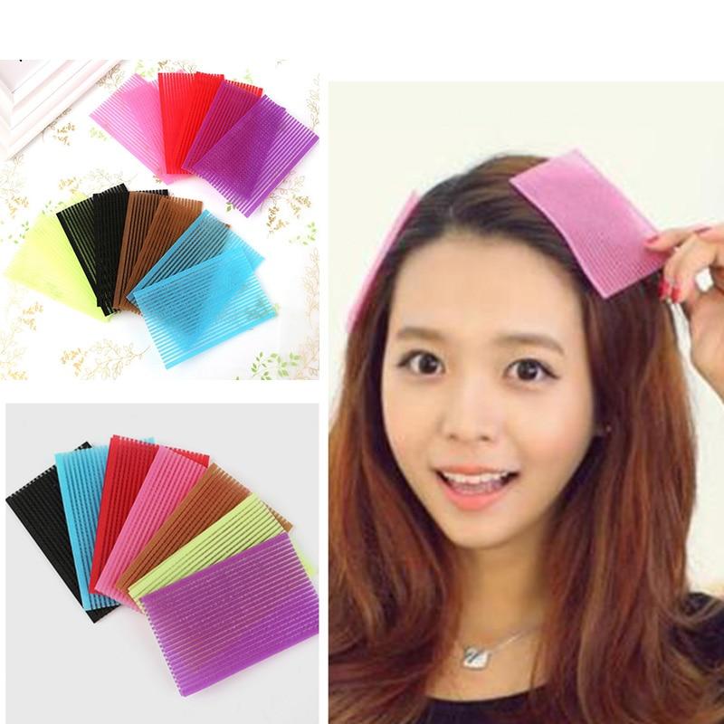 20PCS Small Hair Sticker 6x7cm 6x10cm Clip Bangs Fixed Seamless Magic Paste Posts Magic Tape Fringe Hair Bang Patch