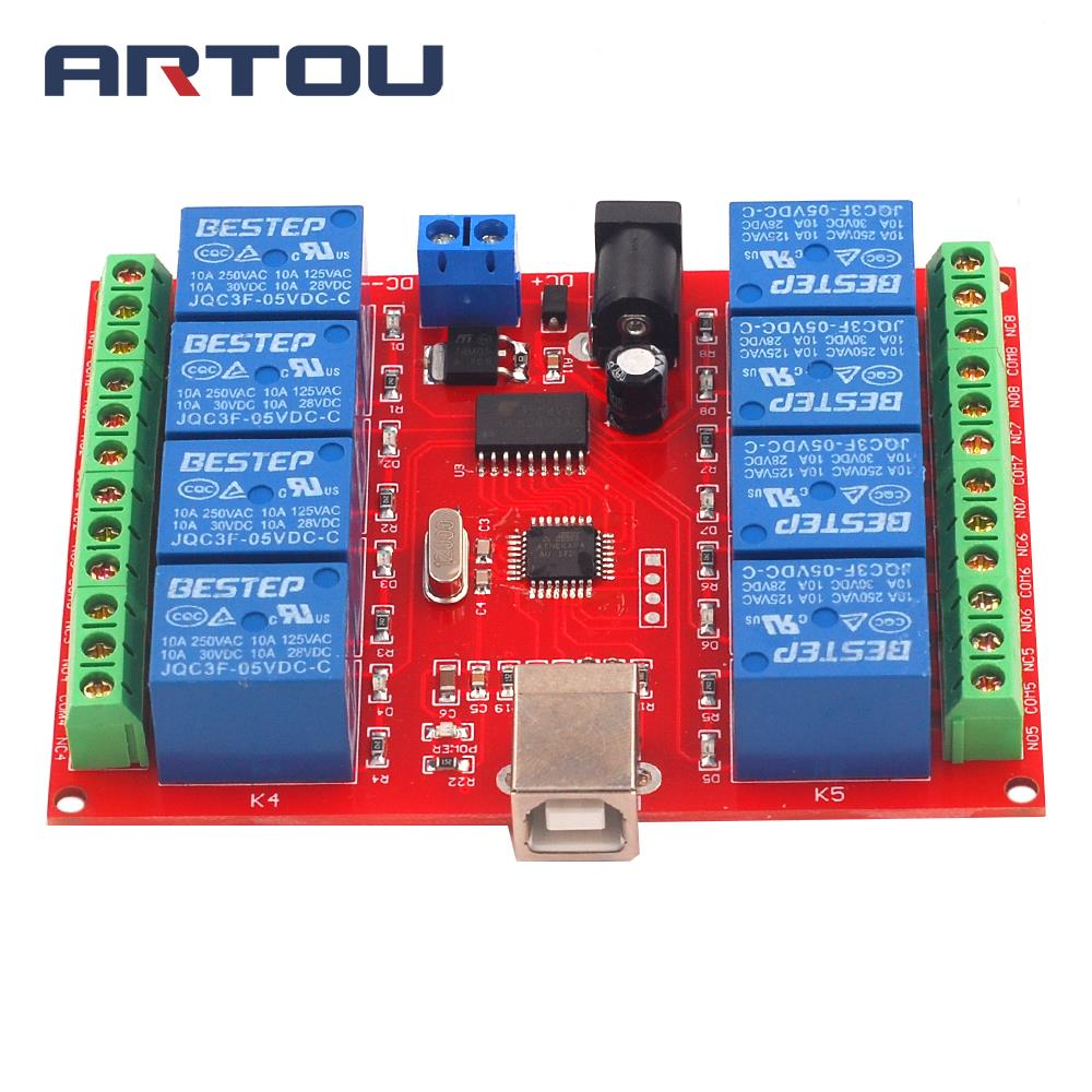 1PCS 8 Channel 5V Relay Module Computer 8Channel USB Control Switch Free Driver PC Intelligent Controller1PCS 8 Channel 5V Relay Module Computer 8Channel USB Control Switch Free Driver PC Intelligent Controller