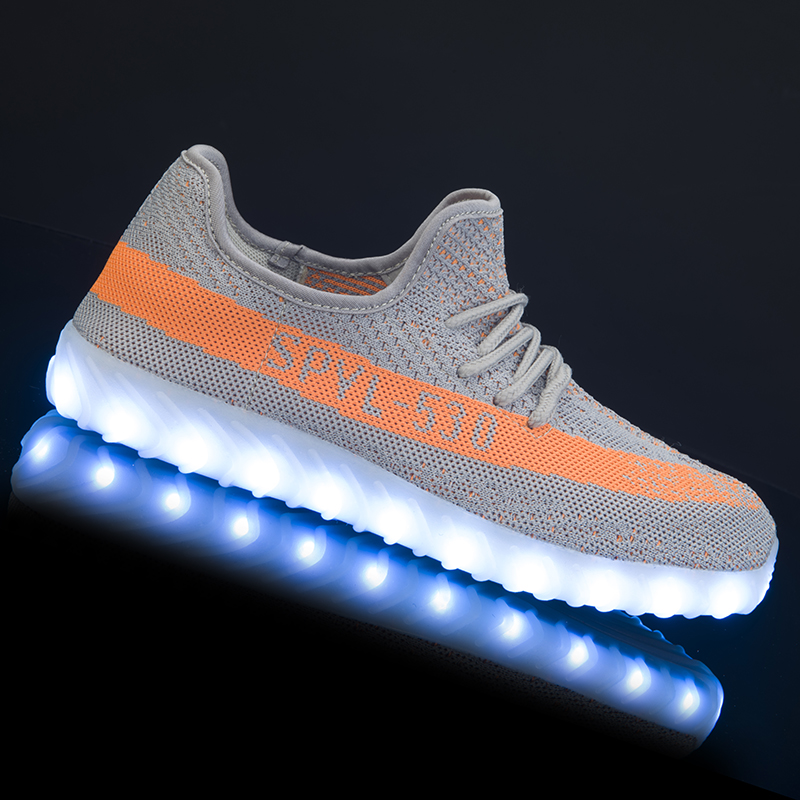 Shoes Feiyitu Led Luminous Shoes For Men Fashion Light Up Casual Male 11 Colors Usb Charge New Simulation Sole Glowing Man Sneakers Men's Shoes