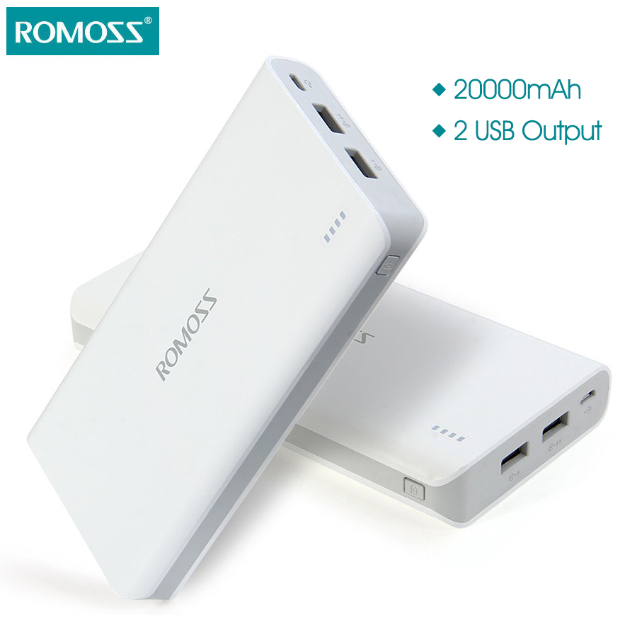 Цена за Romoss Sense 6 20000 мАч внешний Батарея пакет Портативный Зарядное устройство мобильный Мощность банк Питание станции для телефонов Планшетные ПК