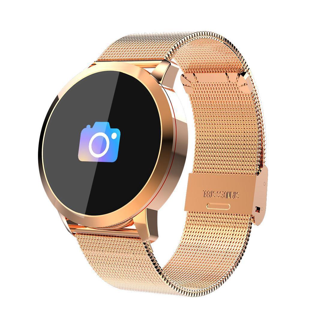 Q8 montre intelligente pas à pas électronique sport Fitness Tracker LIS3DH/KX023-1025 IP67 BLE 4.0 Bracelet montre