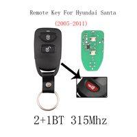 2Buttons + Panic 315Mhz Car Remote Key For HYUNDAI Tucson Santa Fe Elantra 2005 2006 2007 2008 2009 2010 2011 Original key