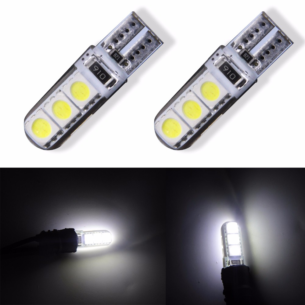 4 Stks W5W 168 194 SMD T10 LED Wit Lichten Wedge Light Side Lampen - Autolichten