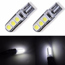 4 Pcs W5W 168 194 SMD T10 LED White Lights Wedge Light Side Bulbs For Car Tail light Side Parking Map Dome Door light