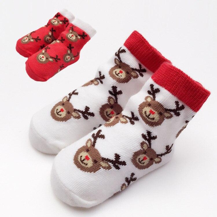 3 pairs Christmas Baby Socks Infant Socks for Girls Newborns Socks for Princess Birthday Gifts for Baby Girls 0-24 Months H881
