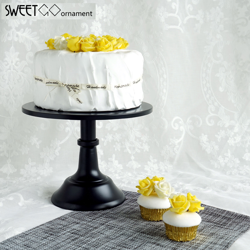 Sweetgo 10 12 Inch Black Cake Stand Quality Metal Wedding Cake Tools