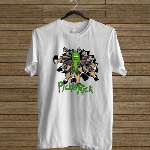 NEW PICKLE RICK JOHN WICK PARODY WHITE TEE USA SIZE S TO 3XL T-SHIRT EN1 Print T Shirt Men Summer Style