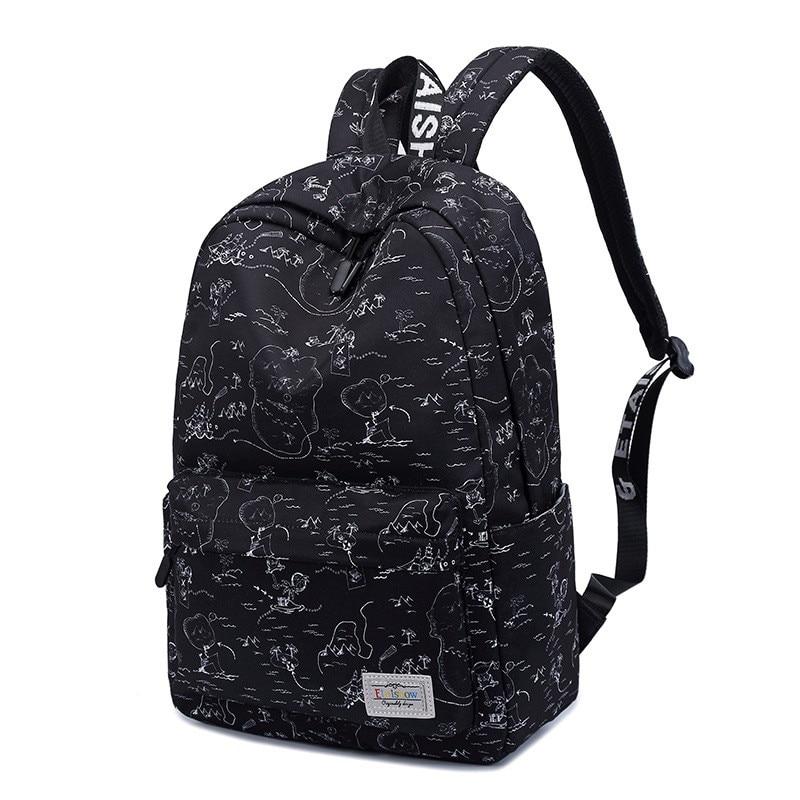 Women Backpacks Fashion Geometry Printing School Bag For Teenagers Boys Travel Rucksack Polyester Waterproof Backpack Mochila