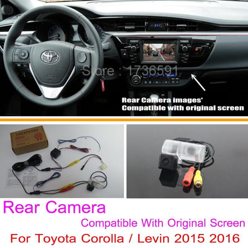 Dla Toyota Corolla/Levin 2015 2016/RCA i oryginalny ekran kompatybilny/widok z tyłu samochodu kamera zestawy/ HD kamera cofania kamera cofania