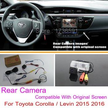 For Toyota Corolla / Levin 2015 2016 / RCA & Original Screen Compatible / Car Rear View Camera Sets / HD Back Up Reverse Camera for honda civic fb exi 2011 2016 car back up reverse camera car rear view camera sets rca