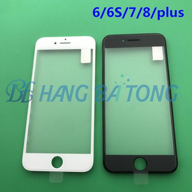 10 Chiếc Ban Đầu 3 Trong 1 Trước Lạnh Báo Chí Kính Bên Ngoài Với Trung Khung Viền Lắp Ráp + OCA Cho ốp Lưng iPhone 6 6 S Plus 7 7 Plus 8G 8 P