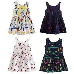 Roupas de Verão Vestido Da Menina Crianças Crianças Baga Vestido de Volta V Vestido de Algodão Meninas Crianças Colete Crianças vestido de Roupas