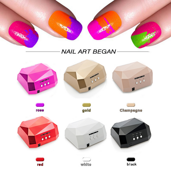 36W LED Lamp Nail Dryer Nail UV Lamp Big Diamond Shaped Long Life LED CCFL Curing for UV Nail Gel Polish Nail Art Tools auto sensor uv lamp 36w led lamp nail dryer gel nail lamp curing for light nail dryer polish nail tools diamond shaped