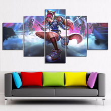 5 Piece Maeve Paladins Video Game Posters Fantasy Art HD Cartoon Picture Canvas Paintings Wall Art for Home Decor