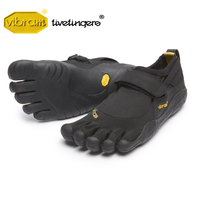 Vibram Fivefinger KSO Men Mesh Sneakers Five Fingers hook loop quick drying Slip Light Weight Running outdoor Rubber Shoe
