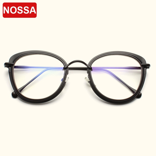 7ce609e28a1 NOSSA 2018 New Fashion Optical Glasses Frames Men Women Vintage Eyeglasses  Personality Spectacles Frame Classic Eyewear