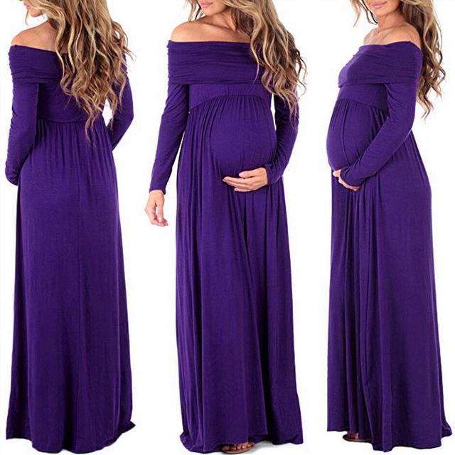 Chiffon Vestidos Off Shoulders Maxi for Pregnancy Photo Shoot