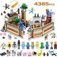 Технологические строительные блоки комплект Совместимость LegoINGLYS Minecrafted большой волшебный замок Модель Кирпичи детей игрушечные лошадки