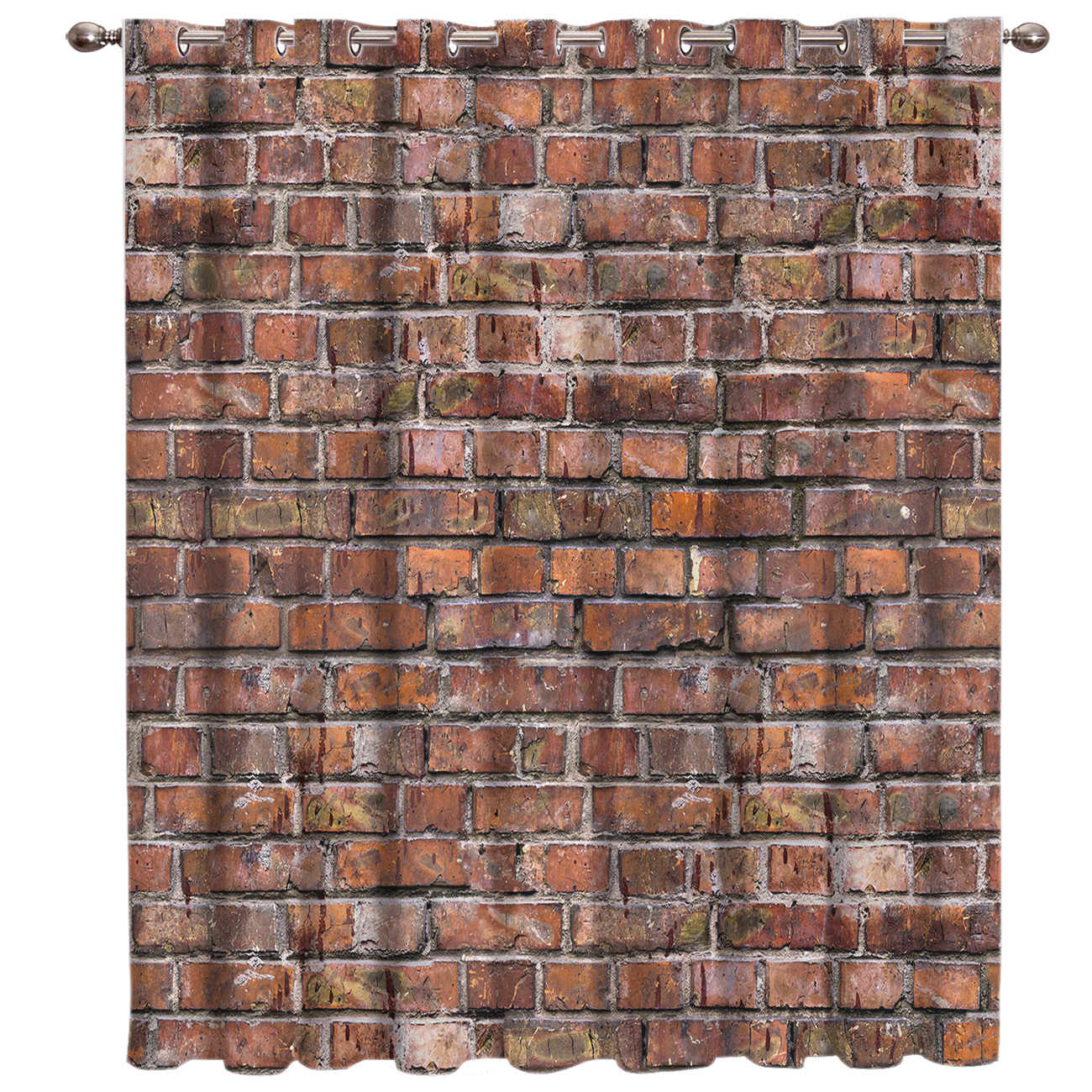 Crack In Stone Brick Wall Retro Red Stone Wallpaper Window Treatments Curtains Valance Window Curtains Dark Window Blinds Living