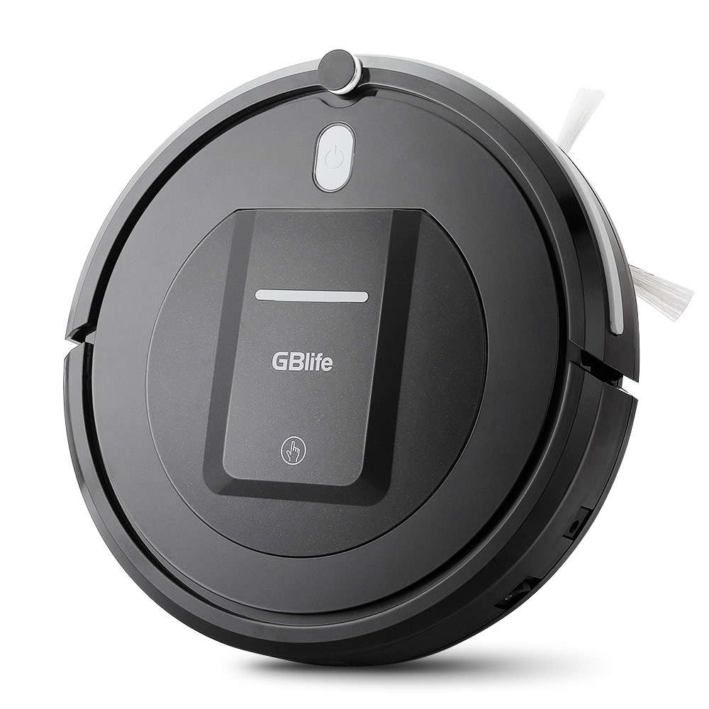 GBlife KK290-B Smart Robot Vacuum Cleaner Wireless Vacuum Cleaner Robot 500Pa Suction 0.2L Capacity Sweeper for Home Cleaning