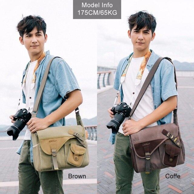 Холст Винтаж DSLR Камера Сумки чехол для Canon Nikon D3300 D7000 D7100 D3100 D90 D5100 d7200 D3200 700D 600D 650D 100 dphoto сумка