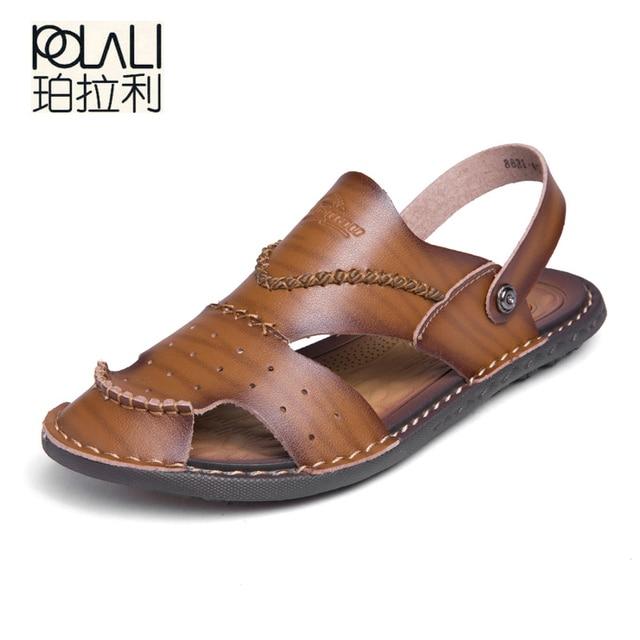 497884ae2 POLALI Summer Men Casual Sandals Dual - use Shoes Fashion Breathable   Soft  Male Beach Shoes Super Non-slip Flip Flops