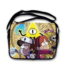 Gravity Falls Satchel Book Bag Cartoon Characters Students Canvas Messenger Bag Child School Bag