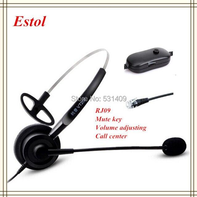 Auriculares profesionales de un solo oído para centro de llamadas, auriculares, auriculares, para centro de entrenamiento, interfaz RJ09, teléfono RJ9, etc.