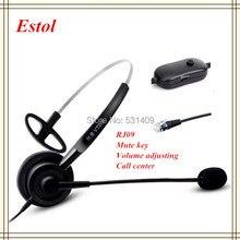 Profesjonalne pojedyncze ucho zestaw słuchawkowy dla call center, słuchawki, słuchawki, dla centrum szkoleniowe, RJ09 interfejs, RJ9 telefon itp