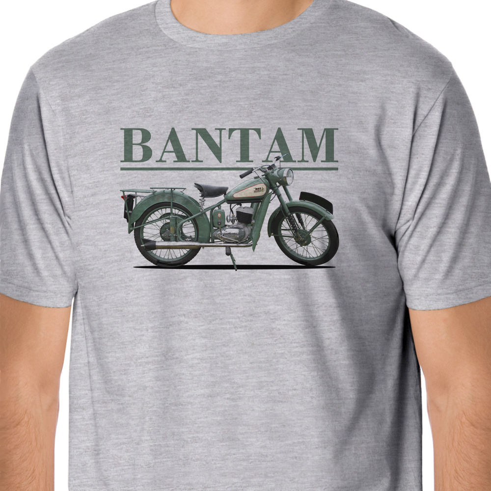 2019 Hot Sale 100% Cotton Retro Bikes - Classic <font><b>BSA</b></font> Bantam Inspired T-<font><b>Shirt</b></font> Summer Style Tee <font><b>Shirt</b></font> image