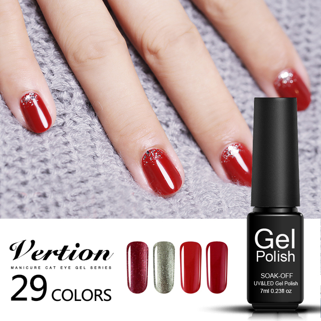 Verntion French Manicure Colors Uv Gel Nail Polish Semi Permanent