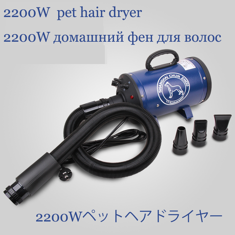 BS-2400 Non-crane Style Professional Pet Blowing Machine 2200W Electric Hair Dryer Big Dog Cat Blow Drier Dedicated Water Blower pet hair dryer blower sale 2400w variable speed quickly drying ru shipping