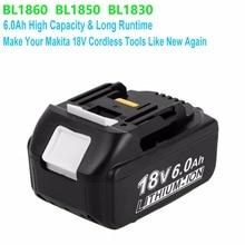 Лидер продаж механические инструменты 18 В в перезаряжаемые Замена Батарея сменный литий-ионный аккумулятор мАч 6000 для MAKITA BL1860