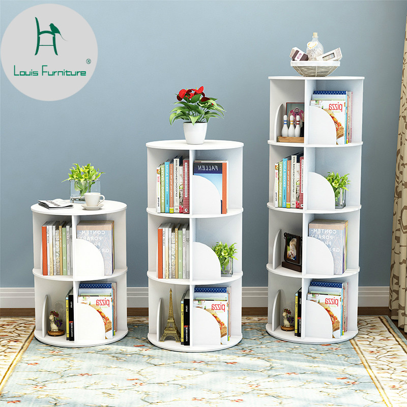 Louis Fashion Creative Rotating Bookshelf 360 Degree