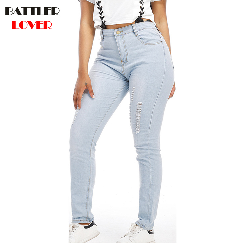 Boyfriend Jeans High Waist Woman Autumn Jeans Pant Women Trousers Ladies Casual Stretch Skinny Jeans Female Wide Hips Pants 2017 classic zircon prong setting ring for women