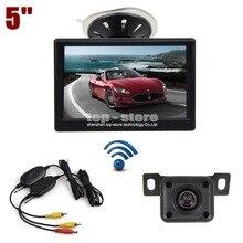DIYKIT 5 inch LCD Display Rear View Car Monitor + IR Night Vision Car Camera Wireless Parking Security System Kit
