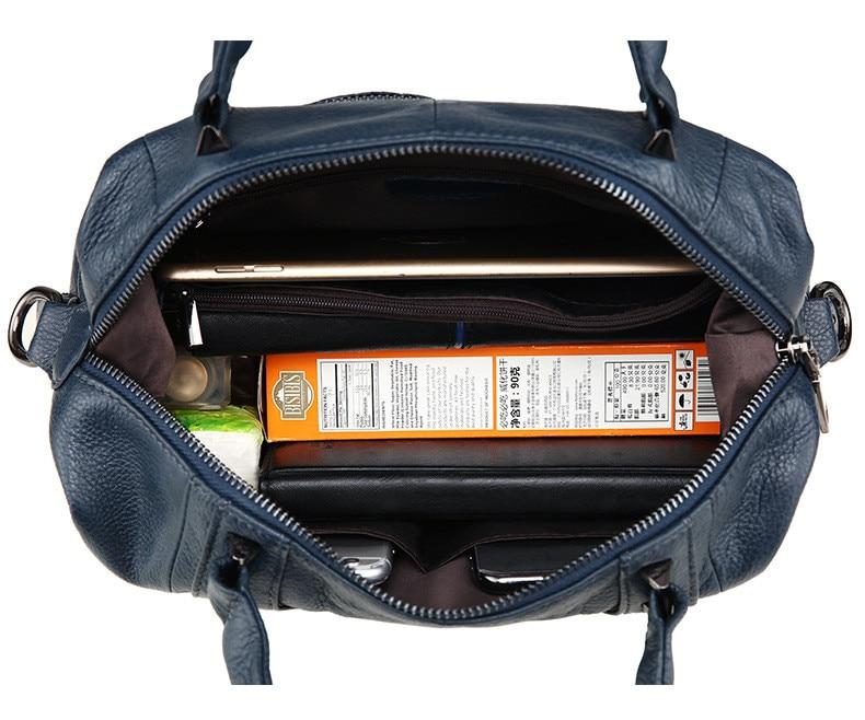 MJ Women Genuine Leather Handbag Female Real Cow Leather Tote Bag Ladies Large Capacity Shoulder Bag Crossbody Bags for Women (23)
