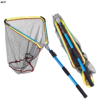 2M aluminum Alloy Telescoping Landing Net Pole for Carp Fishing Rubber Net Fishing Accessories