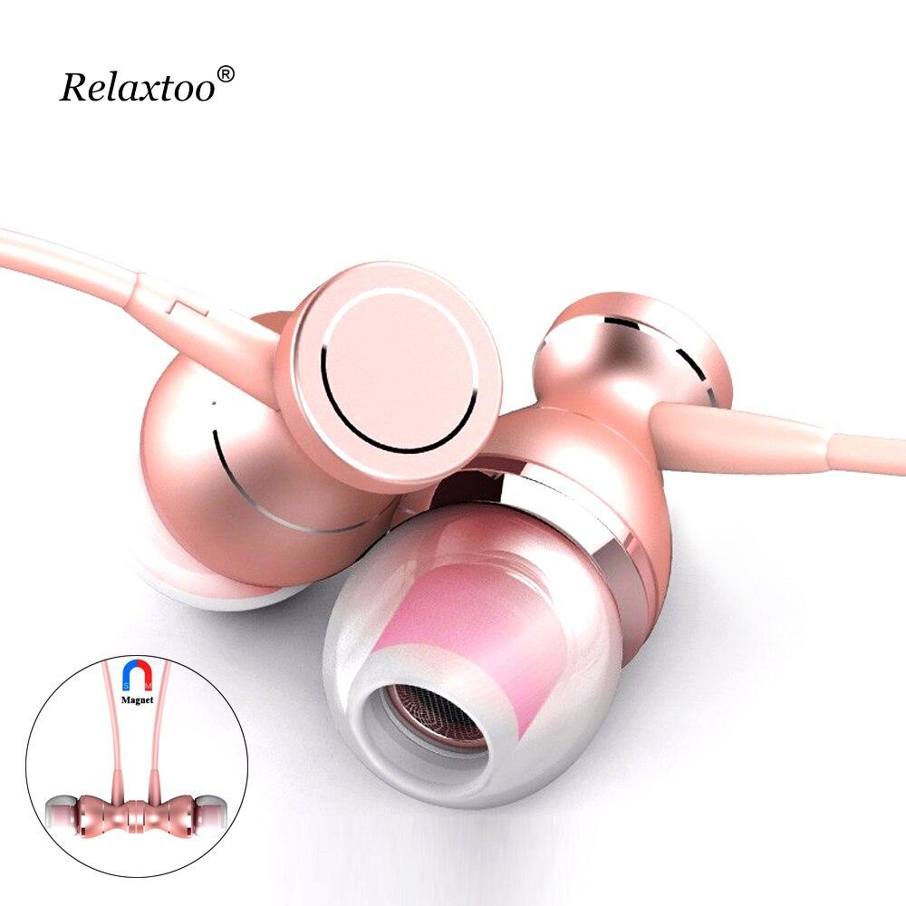 3.5mm Magnétique Écouteur Casque En-ligne Contrôle Clarté Stéréo In-Ear Son Écouteurs Pour iPhone Mobile Téléphone MP3 MP4 avec Mic