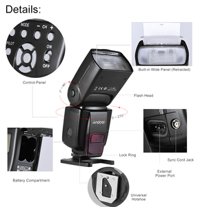 Image 4 - Andoer AD560 IV 2.4G Wireless On camera Slave Flash Speedlite for Canon Nikon Olympus Pentax Sony A7 A7 II A7S A7R A7S II
