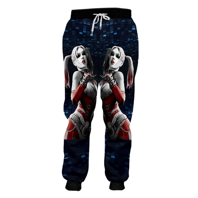 OGKB Homme Loose GYMS 3D Harem Pants Printed American Flag Eagle Casual Large Size Habiliment For Men Spring Sweatpants 2