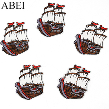 10pcs/lot Embroidered Quality Boats Stickers Diy Sewing sail
