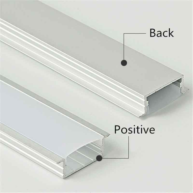 CLAITE 50 см Новый U алюминиевый профиль для светодиодной ленты для Светодиодный полосатый свет для бара комнатный светильник кухонные люстры 23 мм в ширину