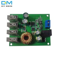 DC DC 7V-60V to 5V 5A 4 Four USB Output Buck Converter Board Step Down Power Supply Module Car Charger High Speed(China)