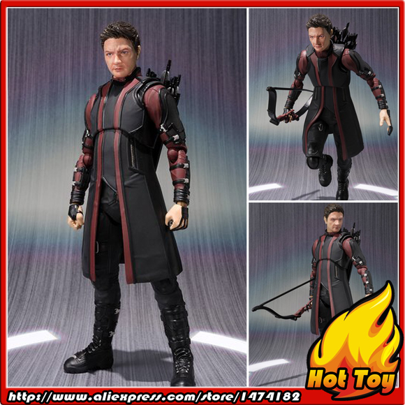 100% Original BANDAI Tamashii Nations S.H.Figuarts (SHF) Exclusive Action Figure - HAWKEYE from Avengers 2 Age of Ultron 100% original bandai tamashii nations s h figuarts shf exclusive action figure garo leon kokuin ver from garo