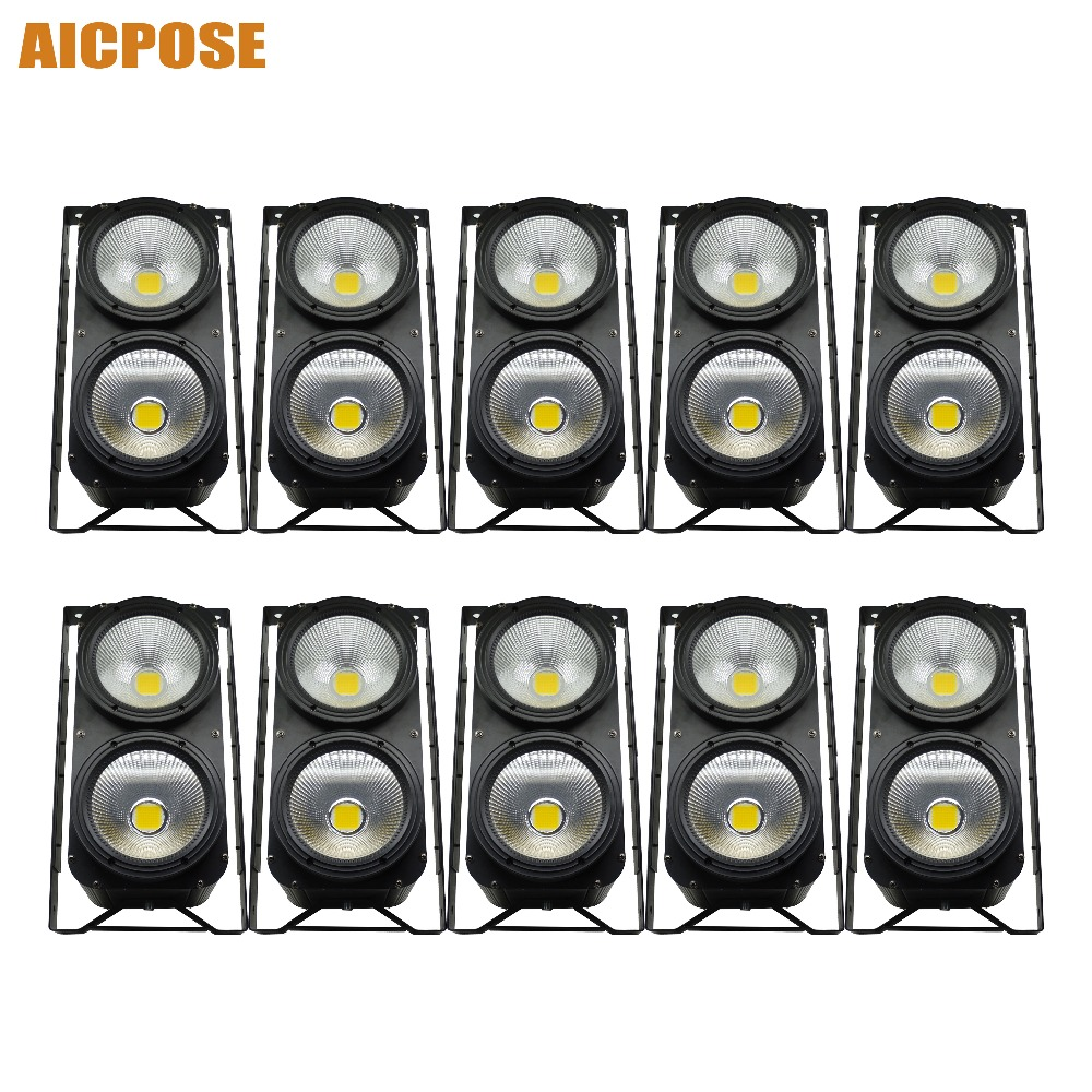 10pcs/lots 2x100W High Power LED COB 2eyes Blinder Lighting Stage Lighting Effect Club Spotlight Washing Lights